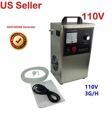 110V 3G/H Ozone Generator for Water Oil Air live bacteria sterilization New