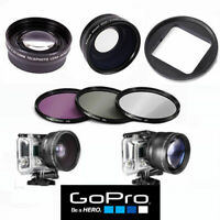 GOPRO HERO8 BLACK HD WIDE ANGLE LENS +MACRO LENS + TELEPHOTO LENS + FILTER KIT