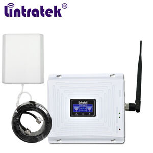 3G 4G Network Cellular Repeater 1800+2100MHz Signal Booster LTE UMTS Amplifier
