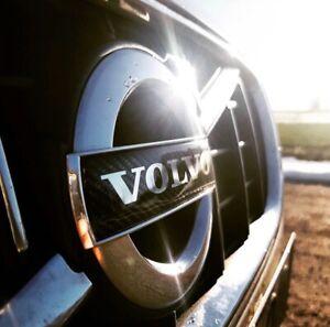 115mm Carbon Fiber VOLVO Grill Badge Emblem C30 S40 V50 S60 S80 V70 XC70 XC90