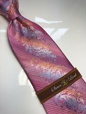 NWT STEVEN LAND Paisley Neck Tie & Hanky New Collection 100% Silk