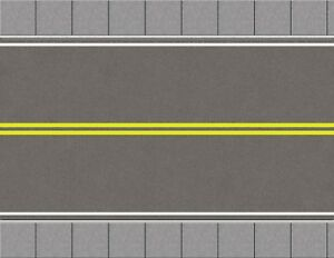 O Scale Roads Model Train Scenery Sheets No Passing Yellow Town - Five 8.5x11