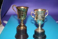 2 Vintage Horse Show Trophies 1940 1943 brass bakelite Academy fontbonne homan