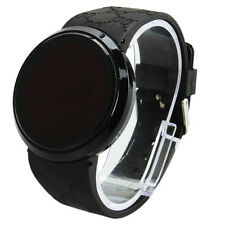 Male Fashionable Touch Screen LED Pattern Silicone Strap Steel Wrist Watch Hot