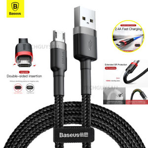 Baseus Micro USB 2.4A Fast Charging & Data Sync Cable Cord For Android Samsung