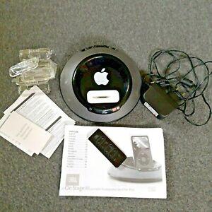 JBL On Stage 3 Black Portable Loudspeaker Complete Accessories Dock Apple Ready