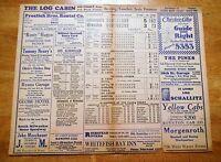 Early Baseball Scorecard June 19, 1930 Babe Ruth Home Run Casper Vending