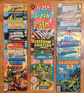DC Bronze Age 22 Book Lot - Misc Titles: Superman, Flash, JLA, Green Lantern