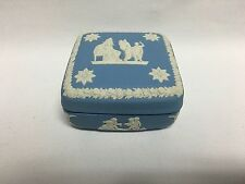 Wedgwood Light Blue Jasperware Square Trinket Box