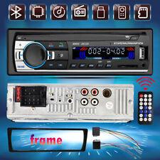 Single 1 DIN Car Stereo Radio MP3 Player Bluetooth Audio In-Dash SD USB FM 12V