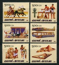 Funeral Horses Pyramid Chariot Cattle mnh set of 6 stamps 2005 Guinea-Bissau