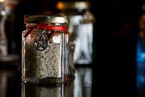 Witch's Jars, Protection, Iron Nails Natural Sea Salt, Negativity, Magick Energy