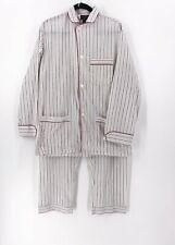 Vintage Christian Dior Monsieur Pajamas Mens Medium Pajama Set Pants Striped