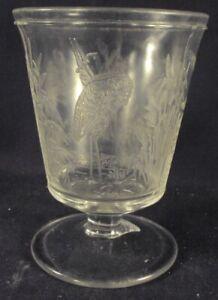 Dithridge Blue Heron Spooner pattern glass crystallography