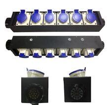 Ciabatta con input + link Socapex / 6 uscite CEE 16A Made in Italy