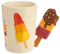NOVELTY 3D CHOCOLATE LOLLY DESIGN HANDLE COFFEE MUG TEA CUP NEW IN GIFT BOX