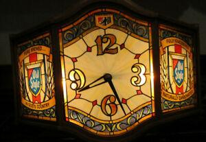 Old Style Heilman's Beer Bar Lighted Clock