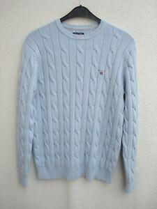 GANT Pullover hellblau Zopfmuster Größe XL