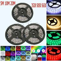 5M/10M/20M 3528 5050 5630 SMD Flexible LED Strips Lights Xmas Garden Party Lamp