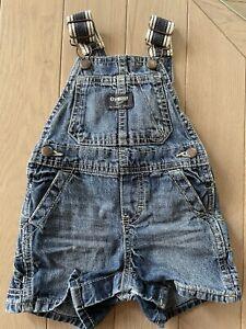 Osh Kosh Denim Short Baby Dungarees Size 9 Months