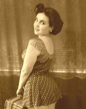 Orignal Vintage Brown Paisley Swimsuit Size 12
