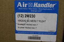 Box of 12 Air Filters Air Handler 16x20x2 Sc 2W230 Pt# 7,156, 891/ D544,949