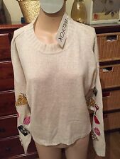 WILDFOX COUTURE DINNER PARTY SWEATER VINTAGE LACE SZ S NWT