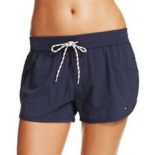 Tommy Hilfiger Women's Swim Drawstring Board Shorts Sz S Core Navy Cover Up i13