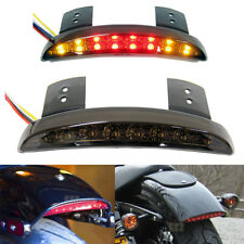 Smoke Rear LED Turn Signal Tail Light Brake Stop For Motorcycle Bobber Chopper G