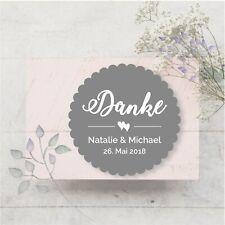 24 Aufkleber Sticker Etiketten Danke Hochzeit Taufe Kommunion Konfirmation