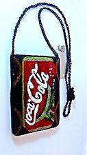 SPECIAL COCA-COLA COKE HAND BEADED BEAUTIFUL PURSE  LONG STRAP SHOULDER BAG