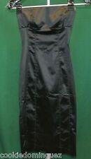 Bebe Satin Bustier Strapless LBD LITTLE BLACK Evening Party DRESS Size XXS