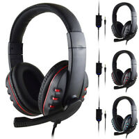 3.5mm Gaming Headset Mic Stereo Surround Headphone Wired For PS4 Xbox/PC Xboxone