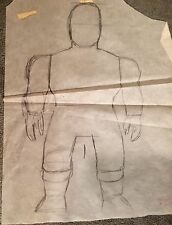 Original Kenner Stretch Armstrong Pencil Drawing Blueprint HMS Archivea