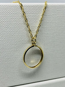 """Genuine 9ct Yellow Gold Sovereign Pendant Mount Necklace 18"""" New"""