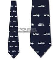 Silk Seahawks Tie Mens Officially Licensed Neck Ties Seattle Seahawks Neckties N