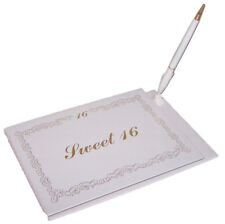 """Sweet 16""  Guest Book &  Pen Sets  (GB7123  ^*)"
