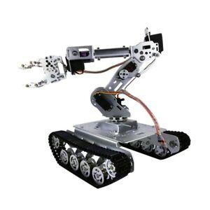 Shock Absorber RC Tank Car w/ WiFi 12V Motor 7-DOF Robot Arm Gripper  TS100