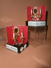 """Dollshouse Miniature 1/12"""" set of 2 Rosel's Chandeliers Sconce with Oval Mirror"""