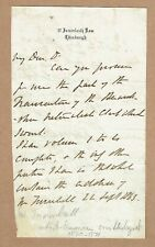 More details for john hutton balfour, noted scottish botanist. original 1865 autograph letter