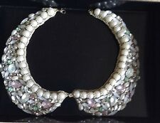 VINTAGE HAND BEADED JEWELLED COLLAR~NECKLACE~ DELICATE AND SO BEAUTIFUL