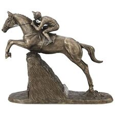 More details for steeple chaser harriet glen bronze effect horse sculpture statue ornament