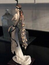 1987 G.Armani Figurine Lady With Peacock 0385
