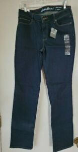 Eddie Bauer Truly Straight Leg Jean - Mid Rise - Size 10