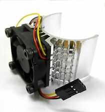 540 550 560 RC EP Electric Motor Heatsink with 6v Fan Silver 1/10 Scale Top