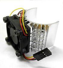 540 550 560 RC EP Dissipatore di calore motore elettrico con ventola 6v Argento 1/10 Scala Top