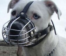 New Strong Metal Wire Basket Dog Muzzle Amstaff Pit Bull, Bull Terrier and Other