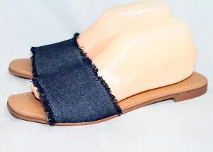 NWOB DOLCE VITA Dark Blue Denim Slide Sandal Wo's 10 Flats Slip Ons