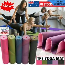 6MM Dual Layer TPE Yoga Mat Gym Mat Fitness Exercise Pilates Non Slip Sports Eco