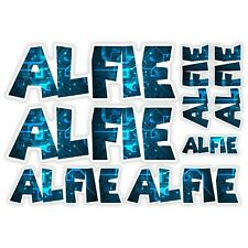 ALFIE Vinyl Name Stickers A5 Sheet Computer Chip Laptop Name Kids Gift #30010